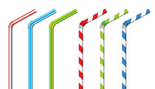 Colorful Drinking Straws, Vect...