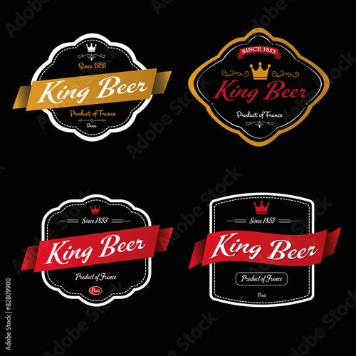 Fotografie, Obraz  King Beer - Étiquette de bière