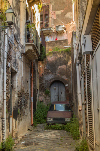 Italy, Sicily:The old streets of Acireale Canvas Print