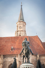 Statue Of King Matias In Front Of The Church Of Saint Michael