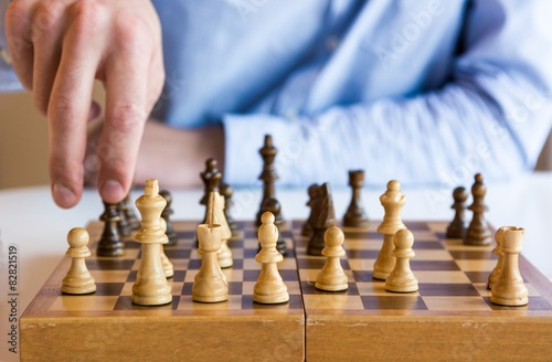 Jeu d'échecs Tableau sur Toile