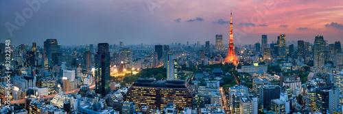Poster Tokyo Tokyo Tower bei Nacht