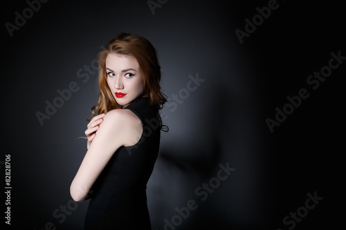 Lonely Woman on the Background Canvas Print