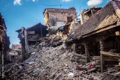 Fotografie, Obraz  Zerstörung nach de Beben 2015