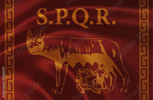 Fényképezés  Senatus Populus que Romanus, wolf symbol of Rome