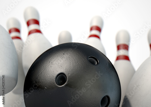 dziesiec-pin-bowling-pins-and-ball