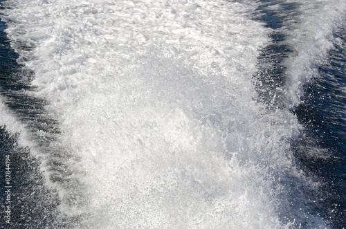 foam motorboat on the sea in Vancouver Island in Canada