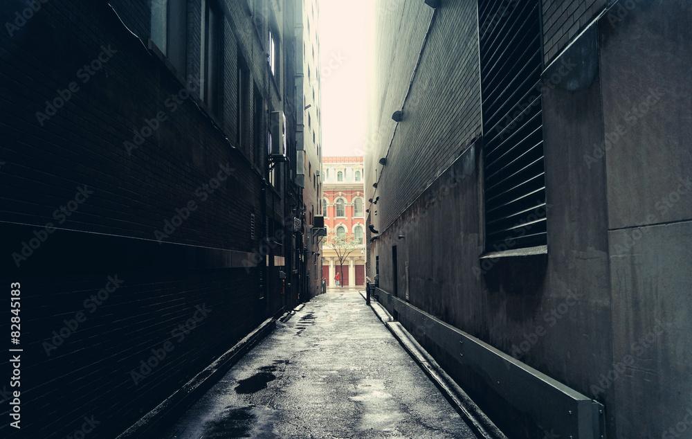Fototapety, obrazy: Dark alley in Toronto, Canada