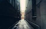 Fototapeta Uliczki - Dark alley in Toronto, Canada