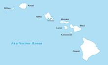 Hawaii Inselkette In Weiß (be...
