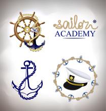The Set Of Marine Emblems