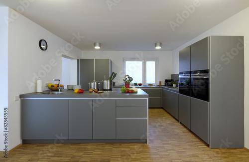 moderne kuche mit kochinsel, moderne küche mit kochinsel - buy this stock photo and explore, Design ideen