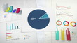 Circle diagram, Pie chart indicated 90 percent,