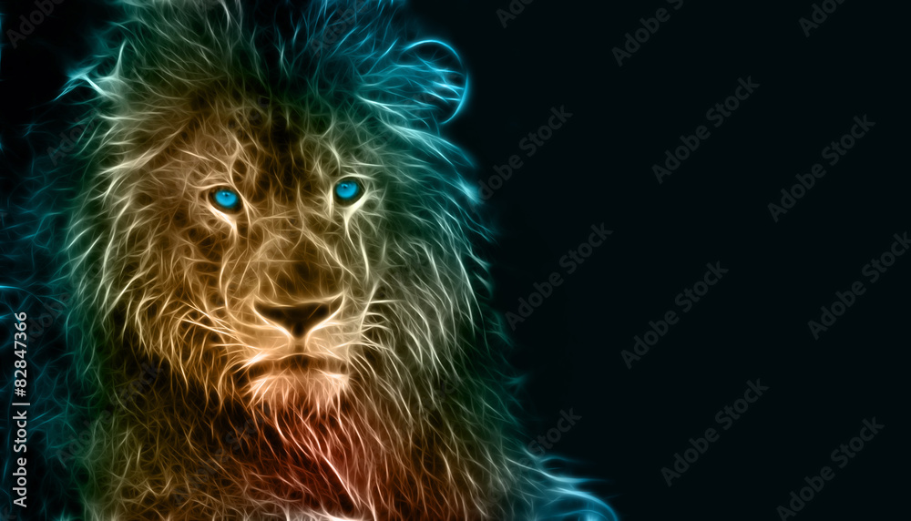 Fantasy digital art of a lion