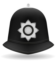 London Police Helmet Vector Il...