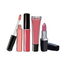 Cosmetics For Lips - Some Lip Gloss And Lipstick