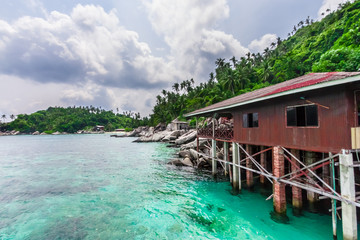 Fisherman's house in the South China Sea (Pulau Aur, Malaysia)
