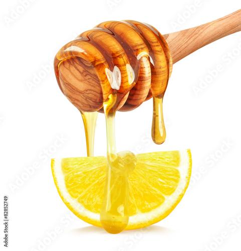 lemon with honey Wallpaper Mural