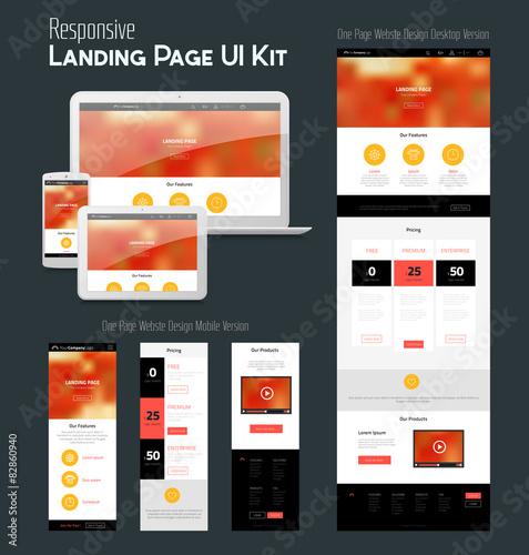 Fotografía  One Page Website Design