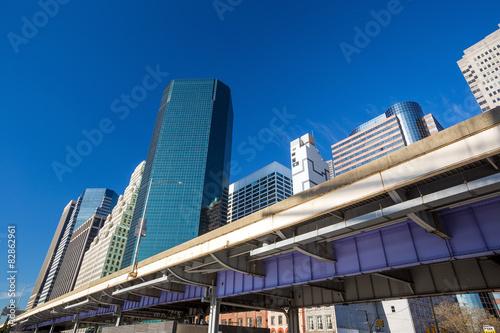 Highway and New York City Skyline