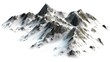 canvas print picture -  Snowy Mountains peaks separated on white background