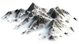 Ośnieżone szczyty gór oddzielone na białym tle - 82870744