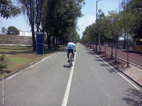 Fotografie, Obraz  Ciclista en el parque