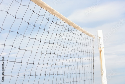 Photo  volleyball net against the sky