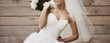 canvas print picture - Wedding picture of happy bride.
