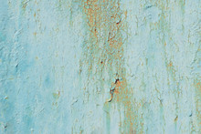 Texture Of Old Green Peeling Paint