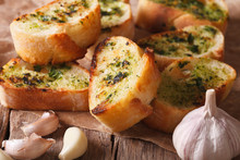 Toast With Fresh Herbs And Gar...