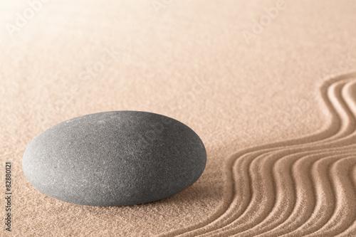 Fotografie, Obraz  spiritual zen stone