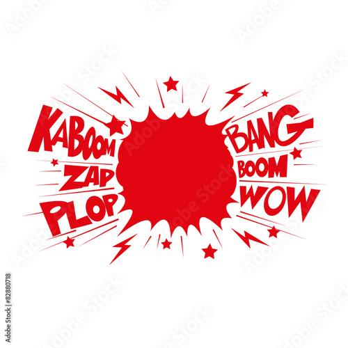 Fotografie, Obraz  Boom. Comic book explosion.hand draw vector illustration