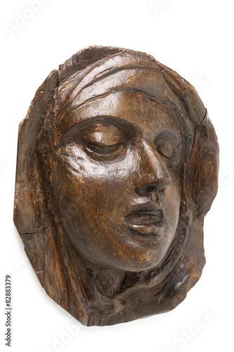 Fotografie, Obraz  Wooden Face of St Teresa of Avila