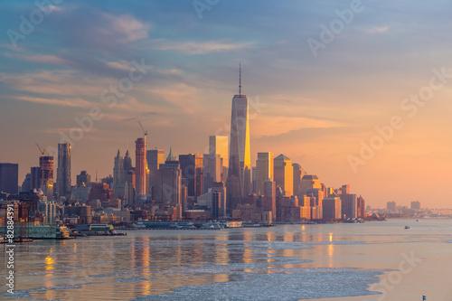 Tuinposter Dubai New York City skyline