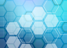 Abstract Colorful Background Of Hexagonal Shapes Randomly