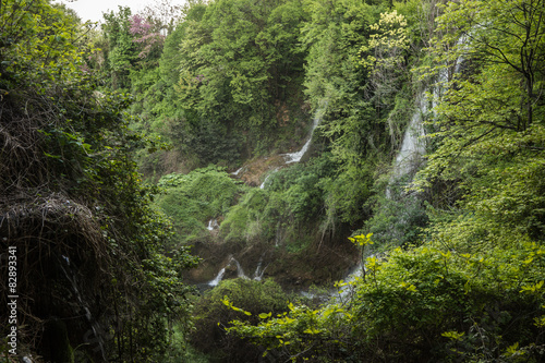 Foto op Canvas Olijf Stunning waterfalls in Naoussa, Northern Greece