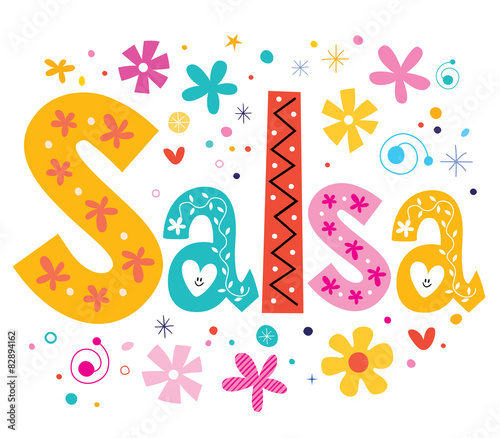 salsa vector lettering decorative type - 82894162