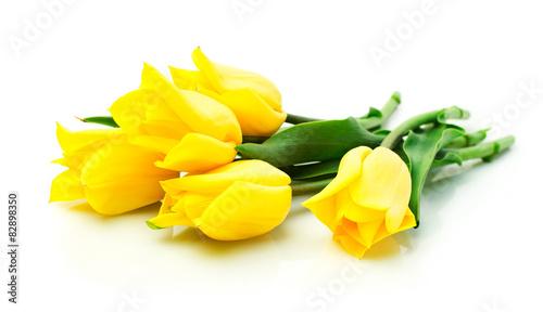 Stickers pour porte Tulip Yellow tulips