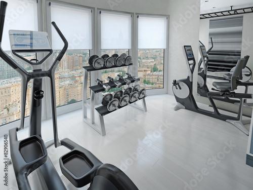 Fotografie, Obraz  Bright design of modern fitness