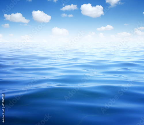 Poster Zee / Oceaan Blue sea