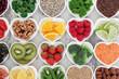 Leinwanddruck Bild - Healthy Heart Food