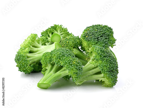 Broccoli isolated on a over  white background Canvas Print