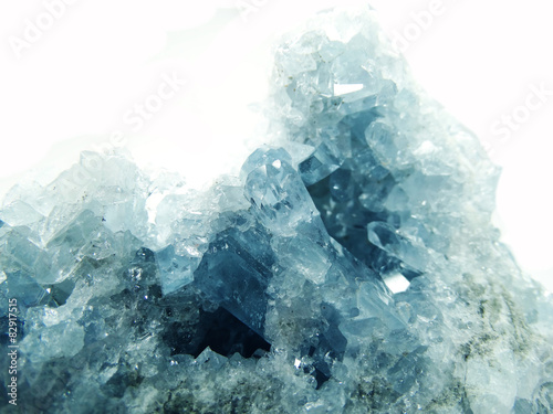 aquamarine geode geological crystals Canvas Print