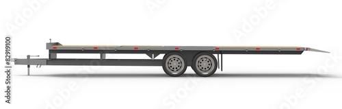 Fotografie, Obraz  car trailer isolated on white