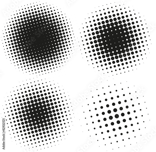 Photo  Set of Abstract Halftone Design Elements