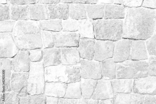 Fotografie, Obraz  Stone wall texture White color