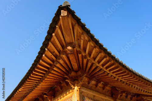 Photo  Close up of Korean traditional architecture