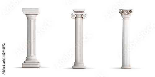 3 classic column orders Canvas