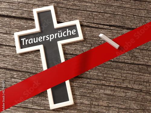 Trauersprüche Kreuz Kondolenz Beileid Tod Trauer Anzeige